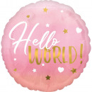 Standard HX Pink Baby Girl foil balloon packed