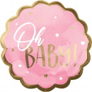 Jumbo HX Pink Baby Girl fólia léggömb csomagolva 2