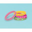 4 rubber bracelets Woodland Princess