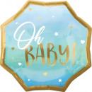 SuperShape XL Blue Baby Boy fólia léggömb csomagol