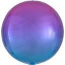 Ombré Orbz Globo de aluminio rojo y azul lleno