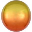 Ombré Orbz amarillo y naranja globo de aluminio em