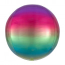 mayorista Regalos y papeleria: Ombré Orbz Rainbow Foil Balloon Packed