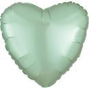 Standard szatén Luxe menta zöld szív szatén