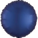Standard szatén Luxe Navy kék kerek szatén