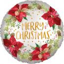 wholesale Artificial Flowers: default satin Infused Poinsettia Christmas foils