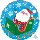 Standard Happy Santa in Sleigh Foil Balloon Pack