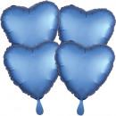 Multi-Pack szatén Luxe 4 darabos szív Azure fólia