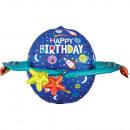 UltraShape Happy Birthday Kolorowe Galaxy Folienba