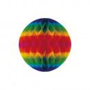 Riesen-Wabenball Regenbogen schwer entflammbar 60