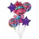 Bouquet Trolls World Tour foil balloon packed