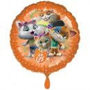 Standard 44 Cats Folienballon rund verpackt