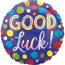 Standard Good Luck Dots Iridescent Folienballon ve