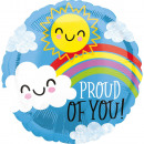 Standard Proud of You Sun and cloud foil balloon v