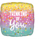 Standard Thinking of You Pastel Dots foil balloon