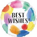 Standard Best Wishes Gemaltes Rauschen Folienballo
