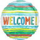 Standard Welcome Watercolor Stripe Folienballon ve