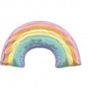 Supershape Iridescent Pastel Regenbogen Folienball