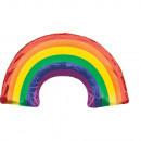 Supershape Regenbogen Folienballon verpackt
