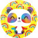 Standard Happy Panda Folienballon verpackt