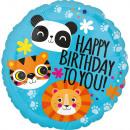 Standard Löwe Tiger und Panda Geburtstag Folienbal