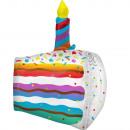 Ultrashape Kuchen-Stück Folienballon verpackt