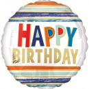 Standard Geburtstag Buchstaben und Streifen Folien