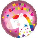 Standard Satin Einhorn Geburtstag Folienballon ver