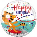 Standard Happy Tiger Geburtstag Folienballon verpa