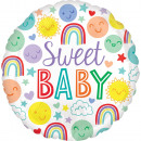 Standard Sweet Baby Icons foil balloon packaged