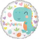 Standard wrapped Babysaurus foil balloon