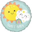Standard Sweet Baby Rainbow fólia léggömb csomagol