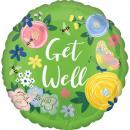 Standard Get Well Floral Garden foil balloon pack
