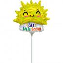 groothandel Stationery & Gifts: 9 'Iriserende Get Well Happy Sun folieballon r