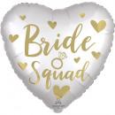 groothandel Stationery & Gifts: standaard satijn Bride Squad folieballon verpakt