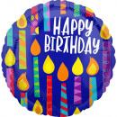 defecto Happy Birthday Pack de globos foil velas