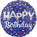 jumbo Happy Birthday Globo de papel de letras glob