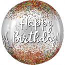 Orbz Happy Birthday Globo de lámina de lentejuelas