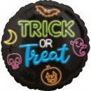 Standard Neon Trick or Treat foil balloon packaged