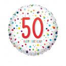 Standard EU Confetti Bday 50 Folienballon verpackt