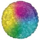 Globo de lámina de lentejuelas arcoíris estándar S