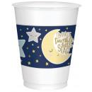 25 csésze Twinkle Little Star műanyag 473 ml