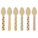 12 Wooden Spoons Paper Minis rainbow colors
