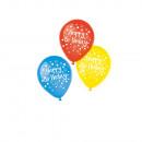wholesale Food & Beverage: 6 latex balloons Happy Birthday assorted 22.8 cm /