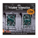 wholesale Pictures & Frames: 2 window pictures Haunted House 165 x 85 cm