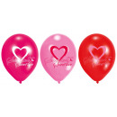 6 Latexballons Lovely Moments 22,8 cm/9''