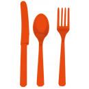 Evőeszközök (8 kések, 8 kanál, 8 villa) narancs