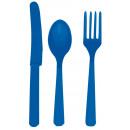 24 evőeszköz kék (8 kanál, 8 kés, 8 villa)