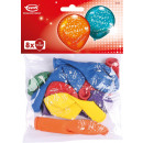 Großhandel Nahrungs- und Genussmittel: 8 Latexballons Happy Birthday Globaldruck 25,4 cm/