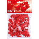25 latex heart balloons red, small 20 cm
